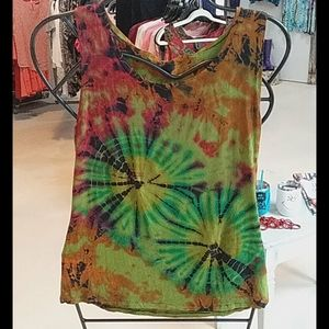 Sacred Threads Tank Top Tie Dyed